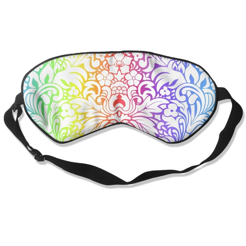 Madge Kelley Eye Mask Adjustable-Strap Eyeshade Sleeping Mask Skin-Friendly Drawing Texture Blindfold Night Sleep Travel