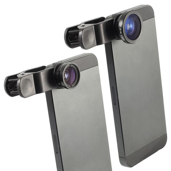 bc2e6d0402d Buy Universal Clip 3 in 1 set Fish Eye Wide Angle Macro Fisheye Lens For  iPhone 6 5 5S 4 4S Samsung s6 HTC Nokia lente olho de peixe in Cheap Price  on ...