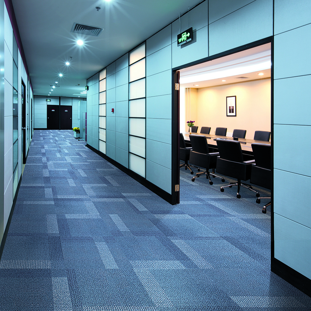 Grey Colorful Rubber Backing Commercial Carpet Tiles Lowes