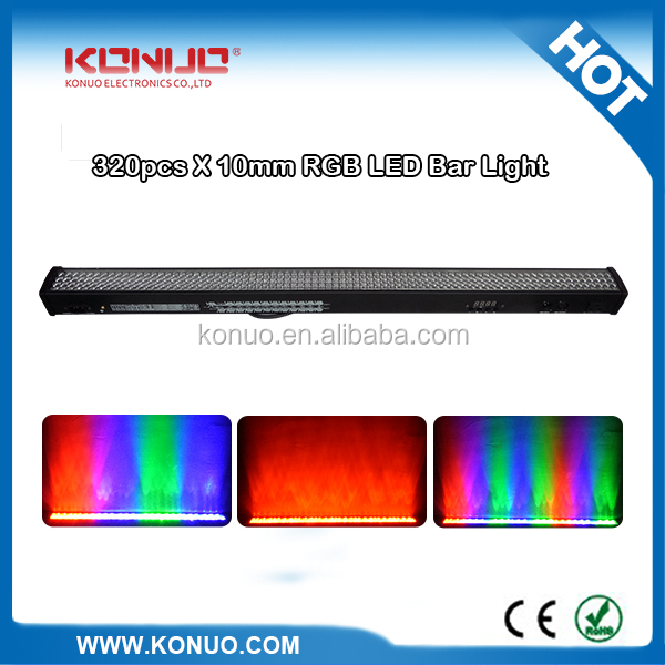 8 sections dmx 320*10mm RGB tri color led stage bar light wash