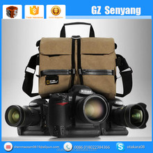 High Quality Luxury Waterproof Canvas Professional Slr Backpack Camera Bag