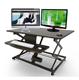 Portable cheap Folding adjustable large laptop office computer desktop workstation table standing sit stand desk for sale