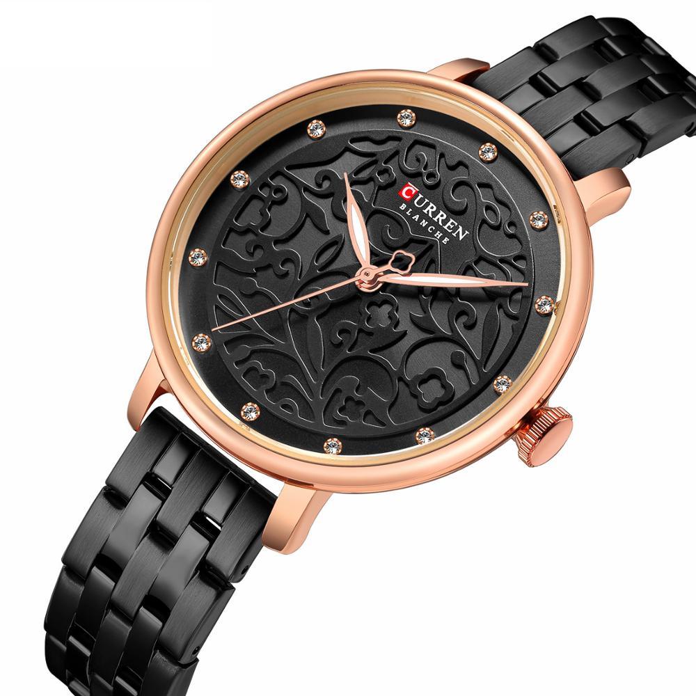 d102920c 2019 CURREN новый черный для женщин часы Бизнес Кварцевые дамы лучший бренд  класса люкс женские наручные