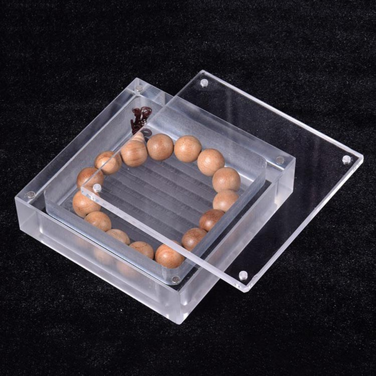 Jewelry Display Acrylic Magnetic Lid Square Box For Jewelry