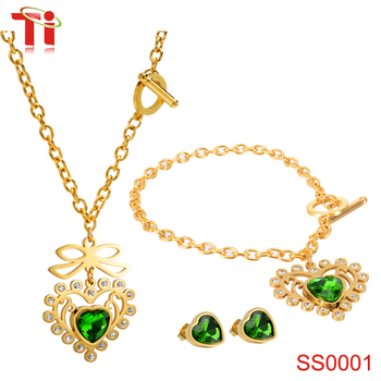 316l Stainless Steel Fashion Jewellery Necklace Simple Gold Earring