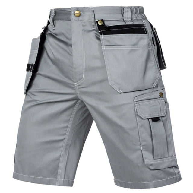 High-Quality 100% Cotton Men's Cargo Pants With Side Pocket Outdoor Work Pants New Wholesale Work Wear Shorts