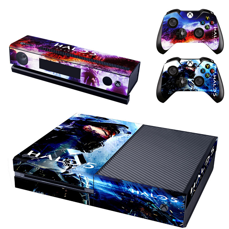 vinyl skin stickers decal of halo 5 for xbox one kinect 2 controller skins. Black Bedroom Furniture Sets. Home Design Ideas