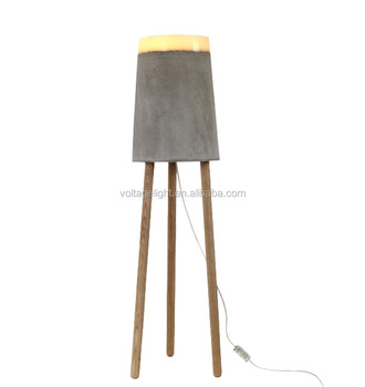 Modern design concrete floor lamp classic ceramic standing lamp modern design concrete floor lamp classic ceramic standing lamp with wooden tripod floor light aloadofball Images