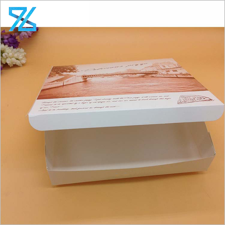 Cheap Disposable Take Out Paperboard Custom Paper Pizza Packing Box
