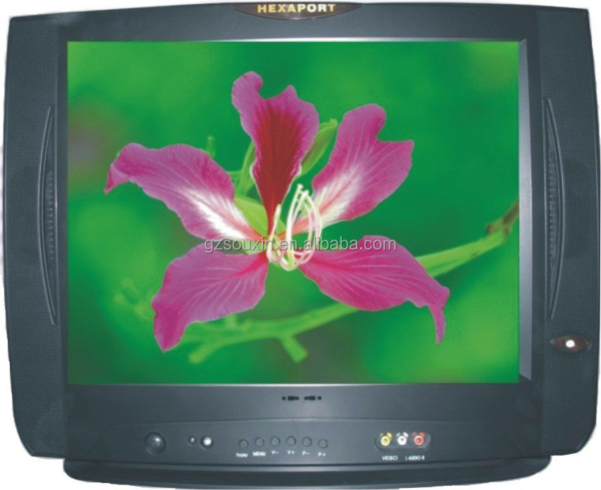 new type Flat screen design14-29inch Color CRT TV with PAL NTSC
