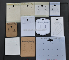 Cheap custom personalized printed stamping jewelry earring cards