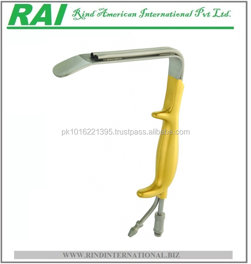 FERRIERA STYLE RETRACTOR, 14MM X 7CM, WITH FIBER OPTIC LIGTebbetts Style Fiber Optic Retractor with Suction Port, 150x30mm Blade