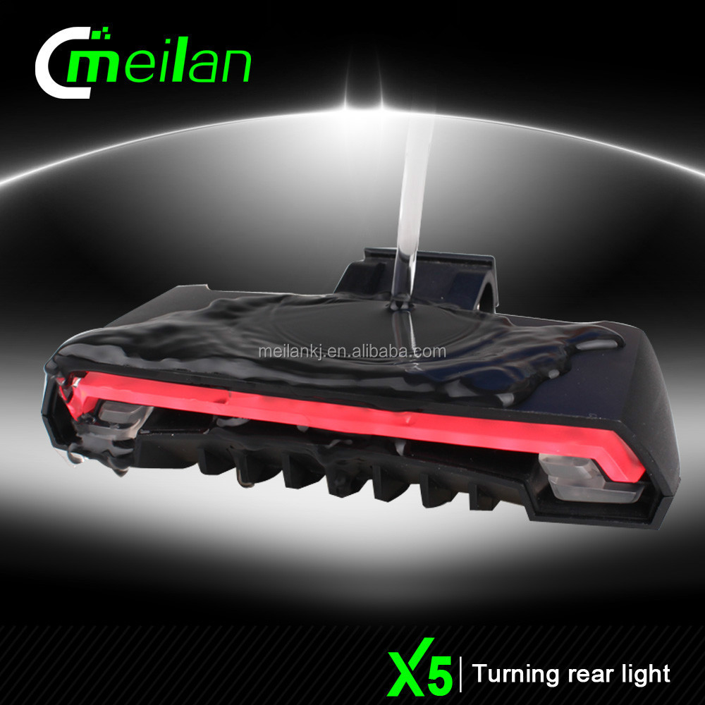 Bicycle accessories factory outlets Meilan X5 car rear light appearence bike rear light wireless remote control turn signal