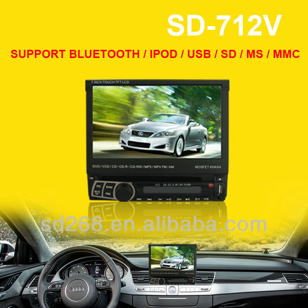 One din indash car dvd player with gps