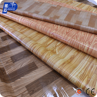 Laminate Waterproof Wood Grain PVC Vinyl Flooring For Interior Decoration