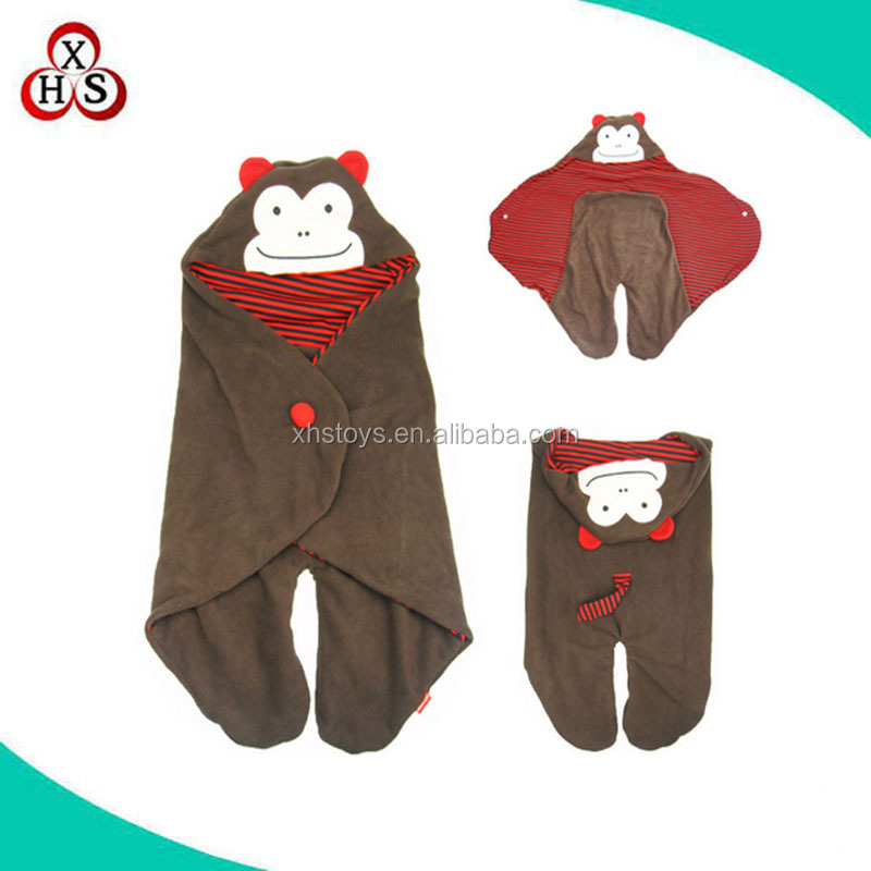 high quality custom plush animal shaped baby kids sleeping bag factory