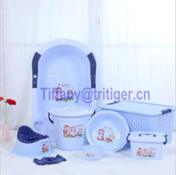 Multifuntional Portable Plastic Washbasin Baby Bath Simple Bailer ...
