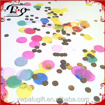 party favor decoration colorful PVC round shaped party confetti