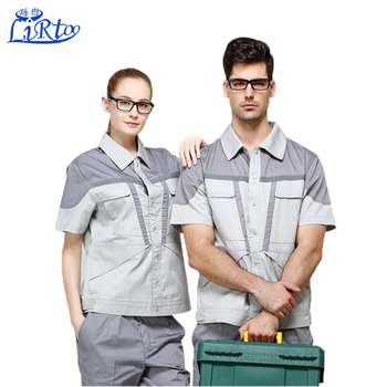 9cfdf5a94 Latest designs dri fit work cargo coat pant uniforms short sleeve workwear  shirt for women and