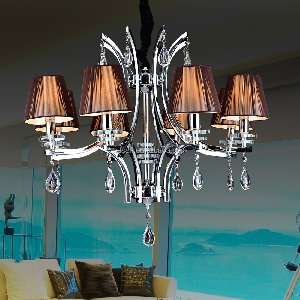 Middle east fabric shade E14 led chandelier lighting