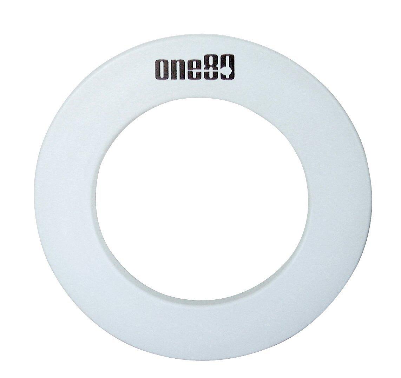ONE80 DELUXE DARTBOARD SURROUND WHITE RUBBER RING