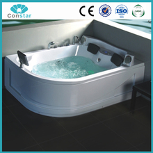 180X140 Oval Shape Cost Price Economical Big Large Massage Bathtub