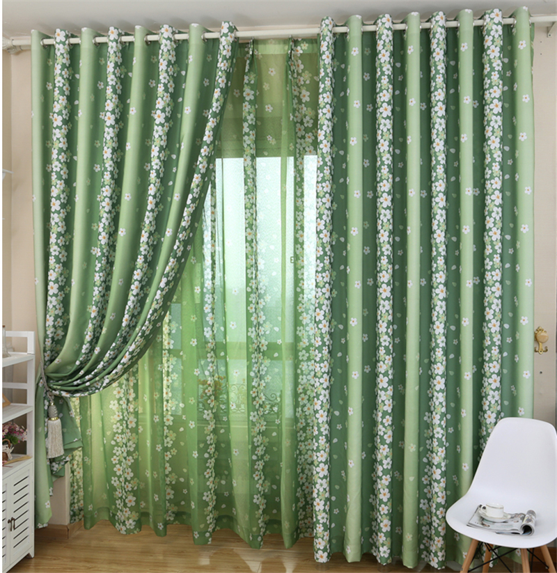 bedroom Curtains living room curtain rustic small fresh ...