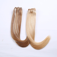 "Highlight color #12/613 #27/613 16"" 18"" 20"" 22"" 24"" 26"" 30"" straight clip in human hair bundles"