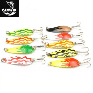 Fashion Fishing Lure 9 colours Metal Spoon Lure
