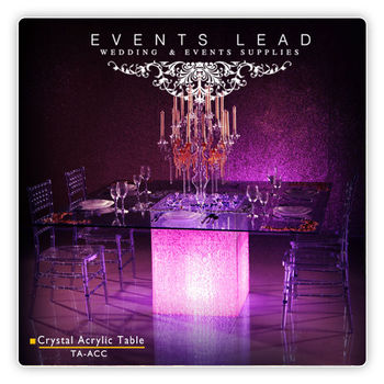 Crystal Acrylic Table Base For Event Room
