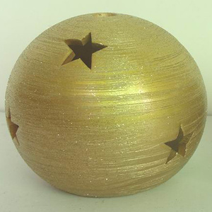 Cheap star and tree candle holder in golden colour for christmas deco