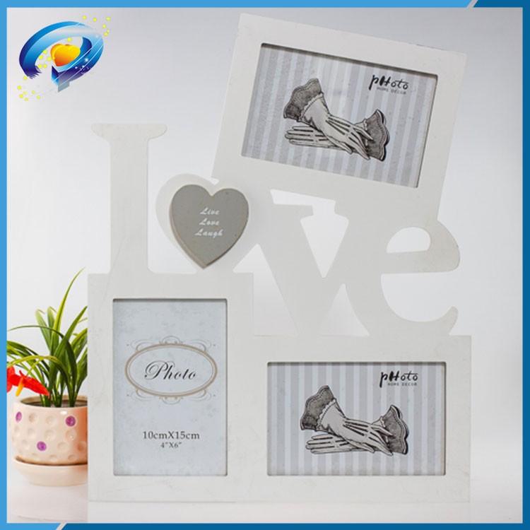 Blanco Amor pareja marco de fotos de madera, carta de amor marco de ...