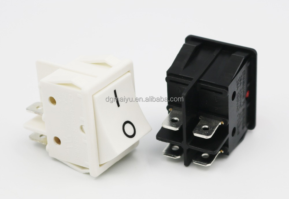 4 Pins Ac 250v 25a Dpst On/off Snap-in Power Rocker Boat Switch ...