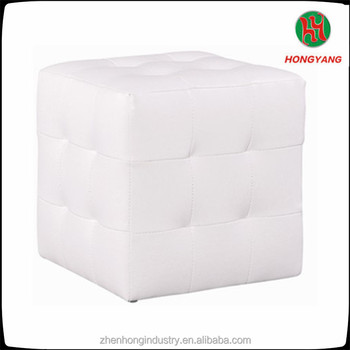 Square White Leather Cube Dice Stool Storage Ottoman Chair & Square White Leather Cube Dice Stool Storage Ottoman Chair - Buy ...