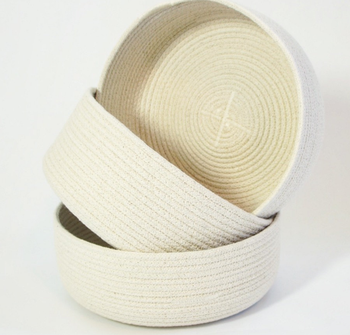 Wholesale Small Braided Cotton Clothesline Rope Bowl Natural Cotton