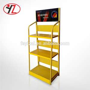 Engine Lubricating Oil Auto Spare Parts Display Rack 4 Shelf Oil Bottle Rack