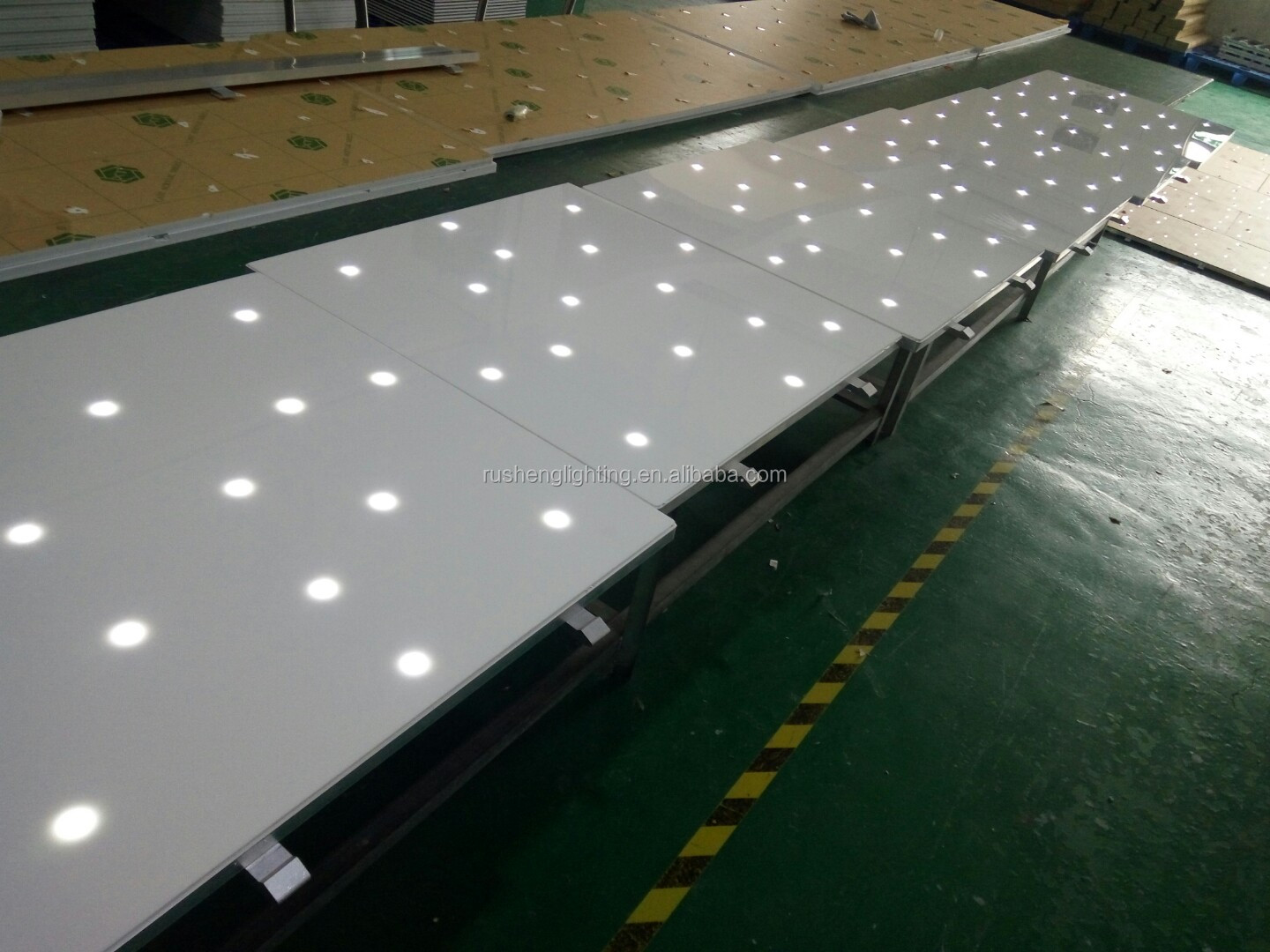 wholesale led stage lighting wedding hotel decoration waterproof Starlight White Led dance floor tiles