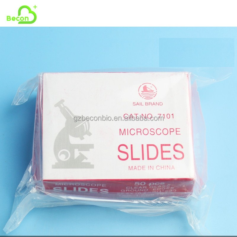 7101-7111 Disposable Medical Prepared Sail Brand Microscope Slide