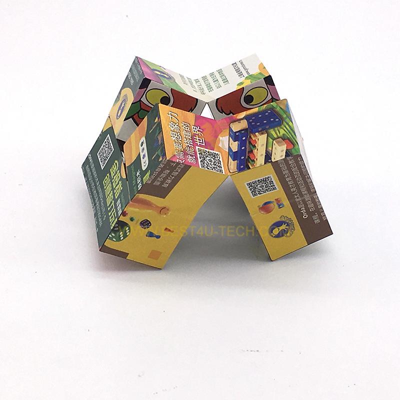 Открытка складывающаяся в кубик