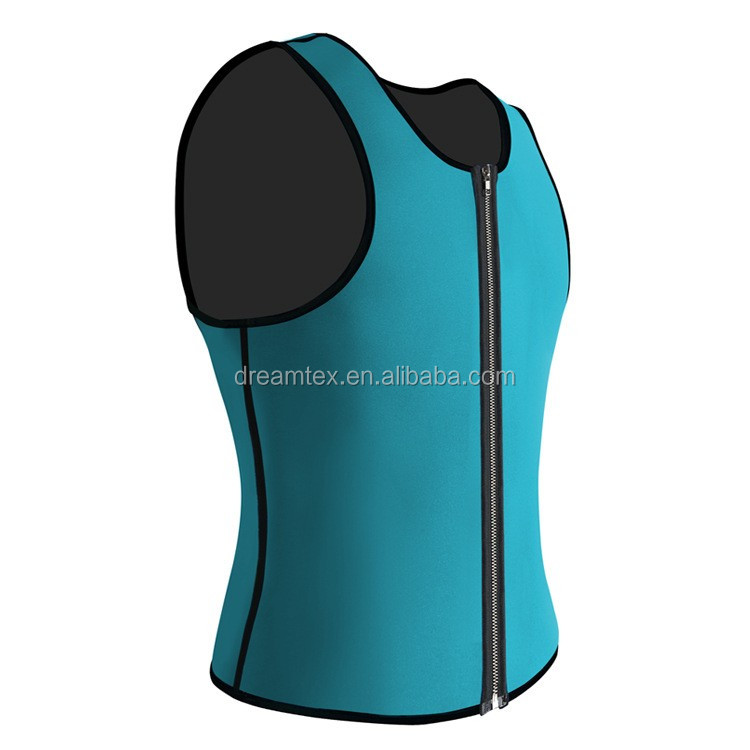 Good quality wholesale neoprene zip gym mens tank top
