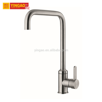 Stainless Steel Commercial Single Handle UPC Kitchen Faucet With Waterfall