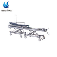 BT-TR011 two stainless steel connecting parts hospital transfer stretcher