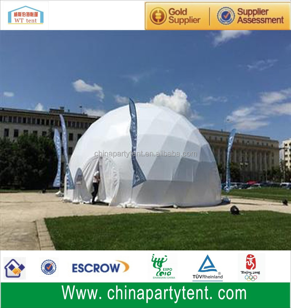 Dome tent for tennis sport for outdoor wedding party and event