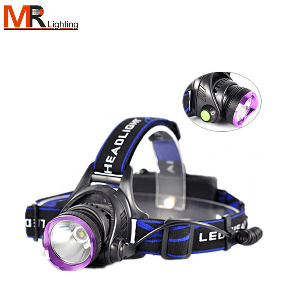 waterproof Q5 T6 L2 Zoom Led Headlamp Head Lamp Torches 18650 Fishing Camping