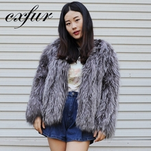 CX-G-A-256 Adaptability Knitted Coat Short Fox Cheap Fur Coats