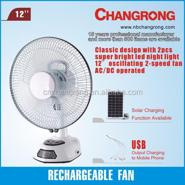 Rechargeable Emergency Table Fan Light Cr-8801