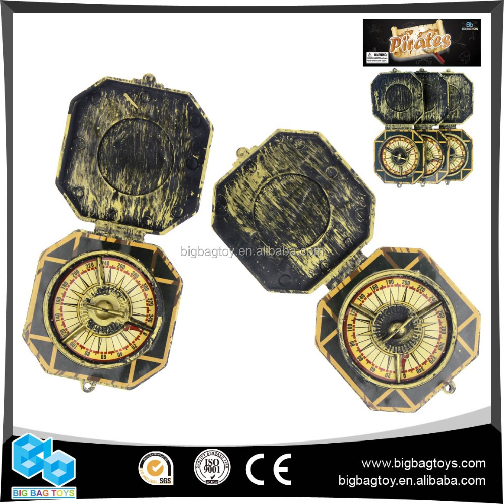 Hot Sale brass color promotion gift pirate compass 3PCS for boys