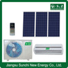 High quality ACDC wall split low price hybrid 9000btu 12000btu solar power heater and air conditioner