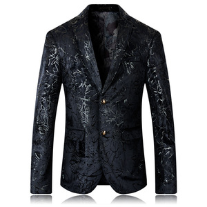 Men's Slim Fit brocade start Sport Coat/Blazer
