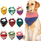 Custom Printed Bandanas For Dogs Pet Bandana Triangle Plaid Bibs Cat Dog Birthday Bandana Scarf Pet Dog Cat Bow Tiess